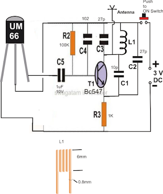 simple FM transmitter with musical output