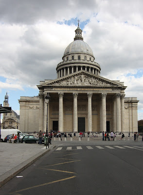 The Pantheon in Paris is a temple built to Louis XIV, commissioned Jacques-Germain Soufflot.  It houses the remains of some of the most famous people of France: Victor Hugo, Voltaire, Marie Curie ...