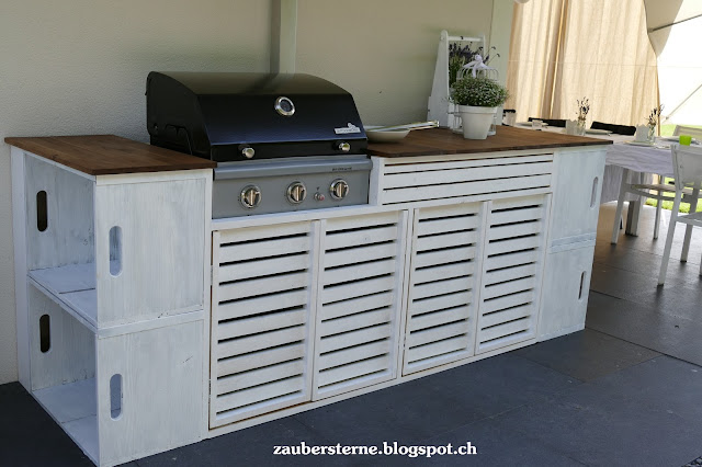 DIY Outdoorküche, Shabby Outdoorküche, weisse Outdoorküche, Outdoorkitchen