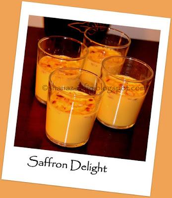 Saffron Agar Agar Dessert, China Grass Dessert