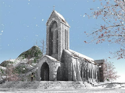 Sapa Stone Church in Winter