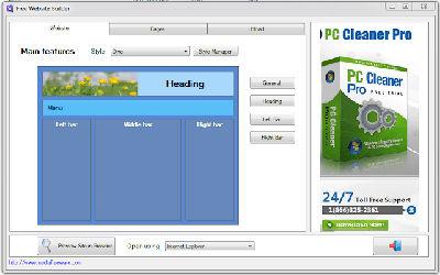 Free Website Builder - Logiciel de Création de Site Web sur Windows