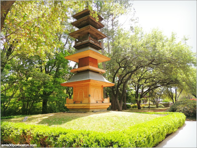 Pagoda en el Fort Worth Japanese Garden