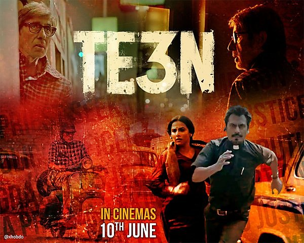 Bollywood movie Te3n Box Office Collection wiki, Koimoi, Te3n cost, profits & Box office verdict Hit or Flop, latest update Budget, income, Profit, loss on MT WIKI, Bollywood Hungama, box office india