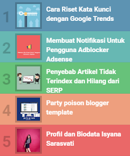 popular post warna waki widget blogger