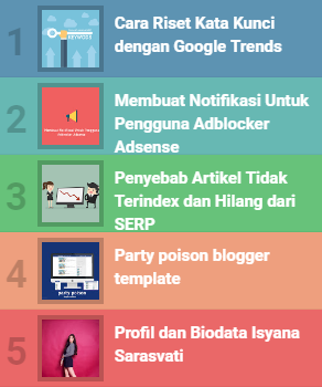 Popular post warna warni blogger widger