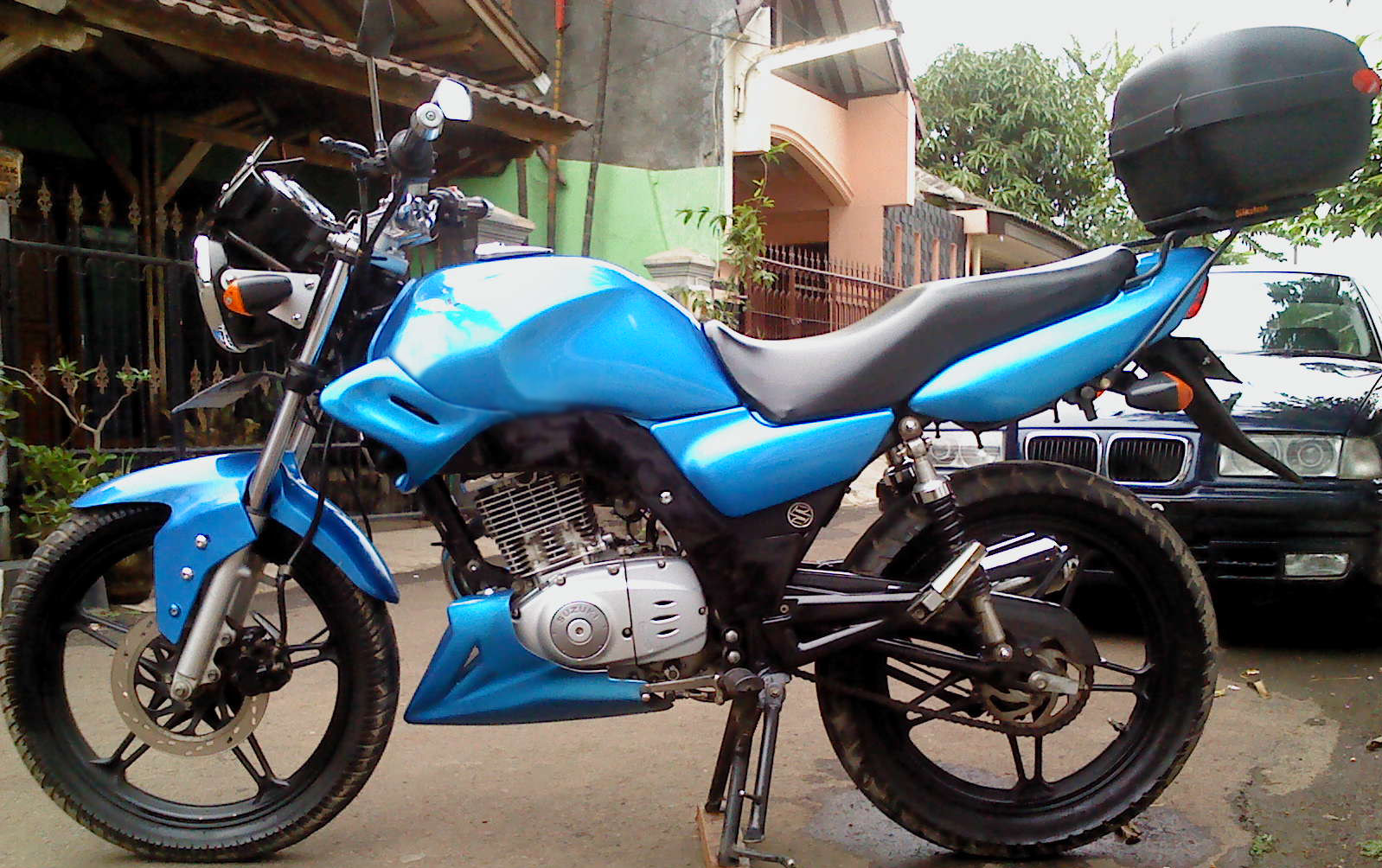 Modifikasi Sepeda Motor Suzuki Thunder Wacana Modif Motor