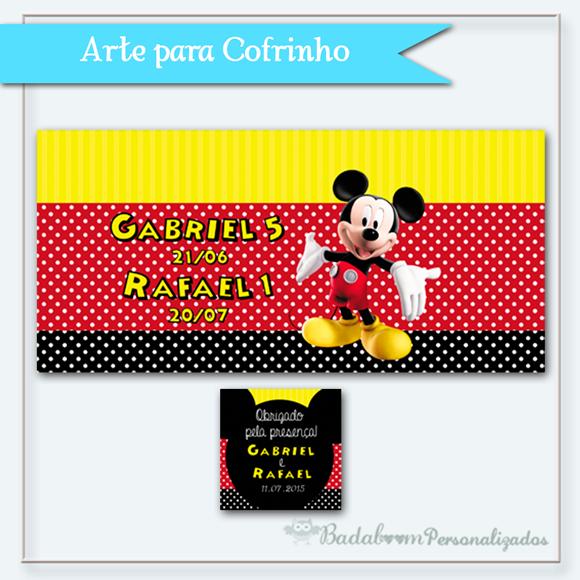 cofrinho, arte digital, Mickey