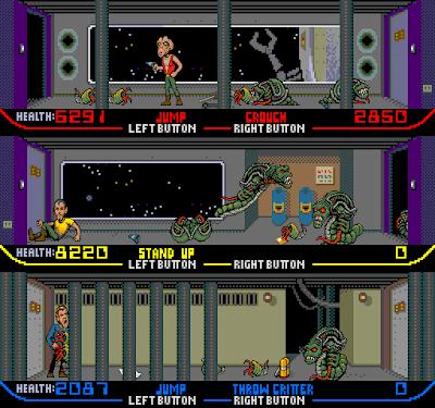 Xenophobe+arcade+game+portable+retro+run & gun+videojuego+descargar gratis