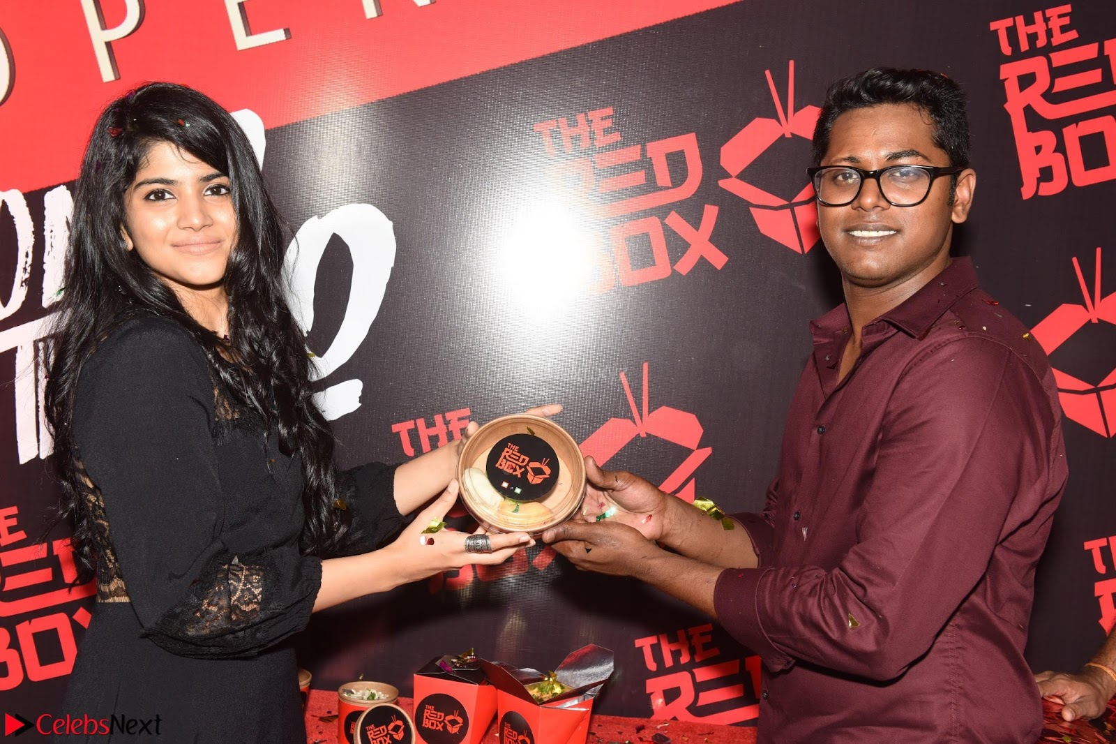 Megha Akash at The launch of The Red Box - Soups and Momos March 2017