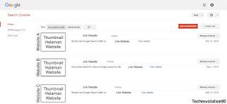 Halaman Depan Google Webmaster - Techrevolution90