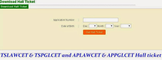 TSLAWCET & TSPGLCET and APLAWCET & APPGLCET Hall ticket