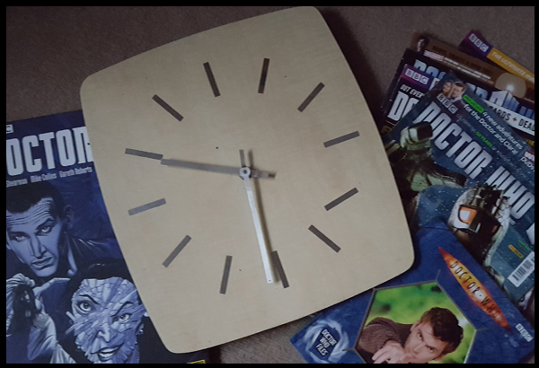 Decoupage an old clock with Dr Who Print