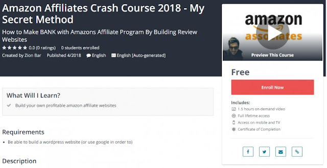 [100% Free] Amazon Affiliates Crash Course 2018 - My Secret Method