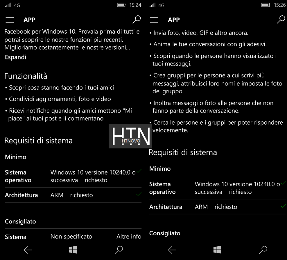 L'inutile discussione sui requisiti RAM di Facebook e Messenger UWP HTNovo