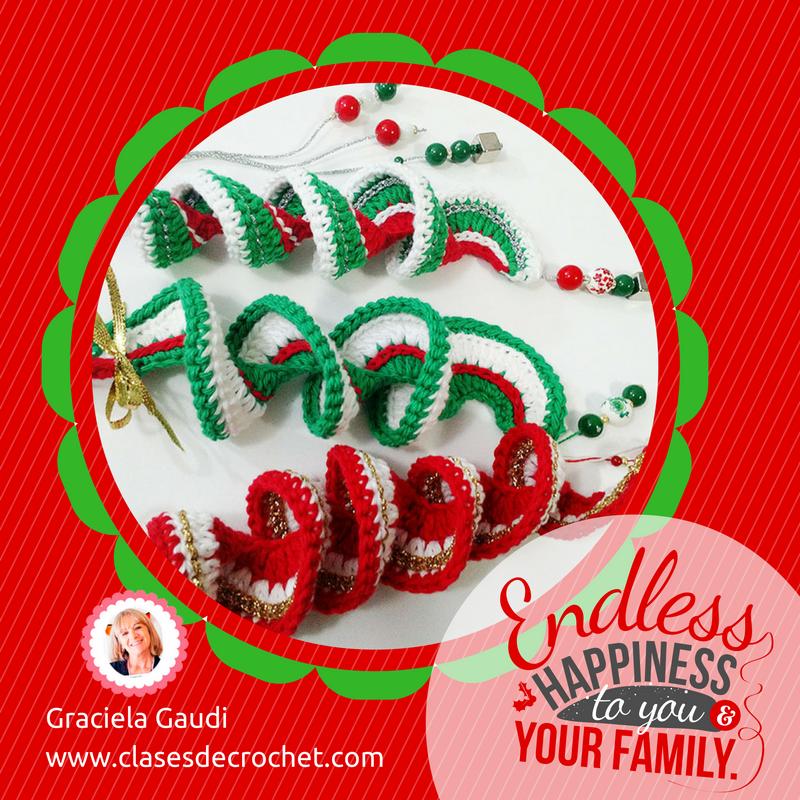 Adorno de navidad a crochet - Tejiendo lindo - Graciela Gaudi