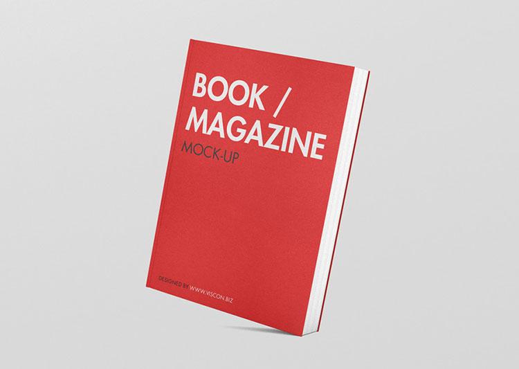 Book Magazine Mockup PSD