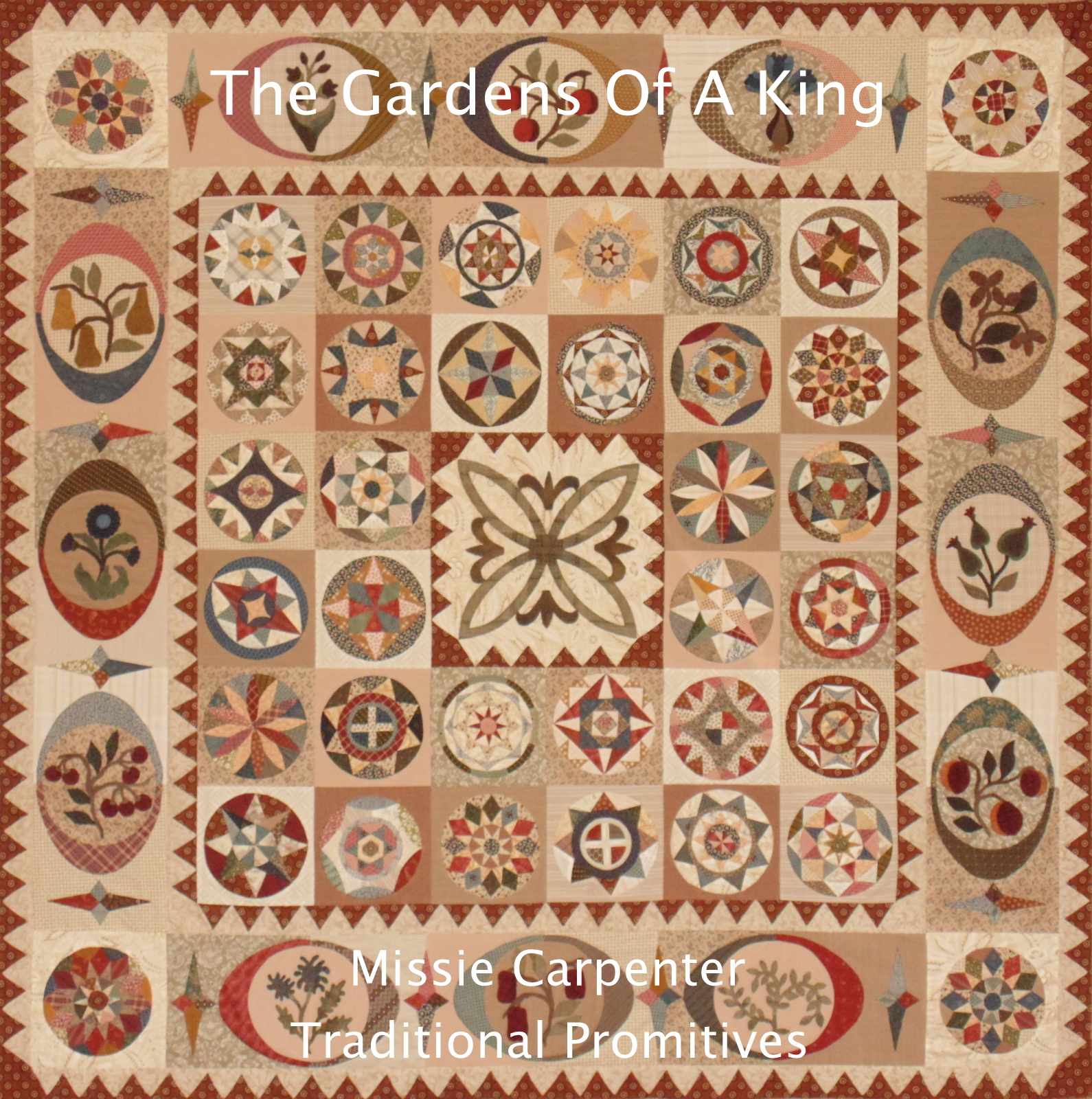 The Gardens of a King von Missie Carpenter Traditional Primitives