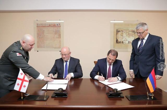 Armenia y Georgia firmaron programa de cooperación militar