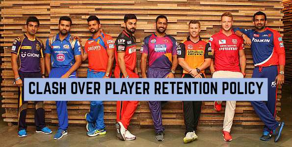 Clash over Retention of Players for IPL 2018 Auction