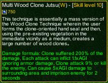 naruto castle defense 6.3 Madara Multi Wood Clone Jutsu detail