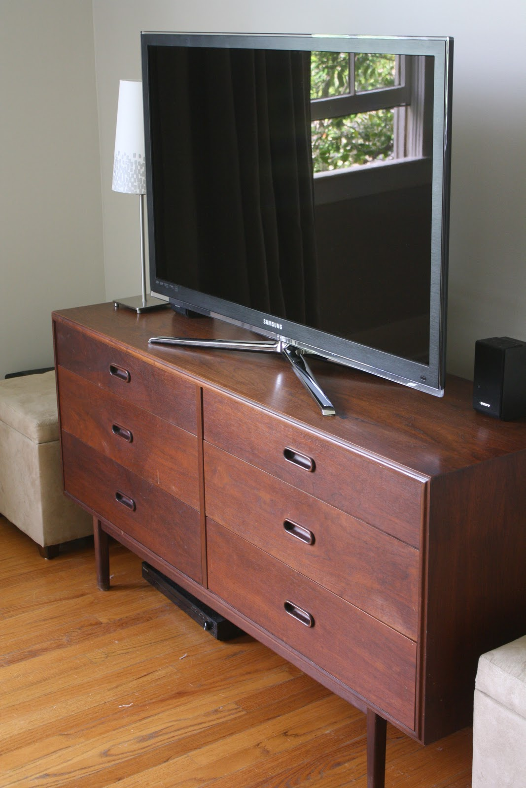 dwell and tell: Living Room Progress - Dresser for TV