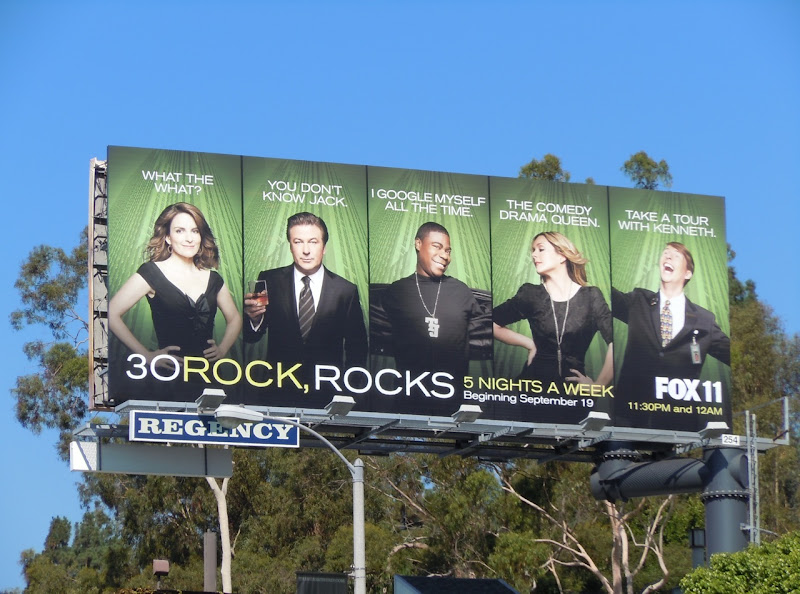 30 Rock, rocks billboard