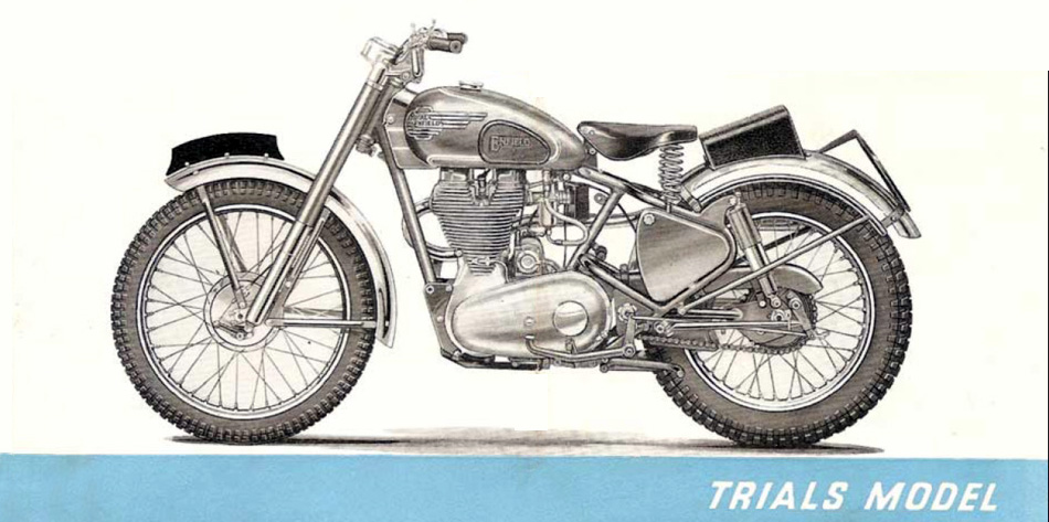 Royal Enfield Trials Model.