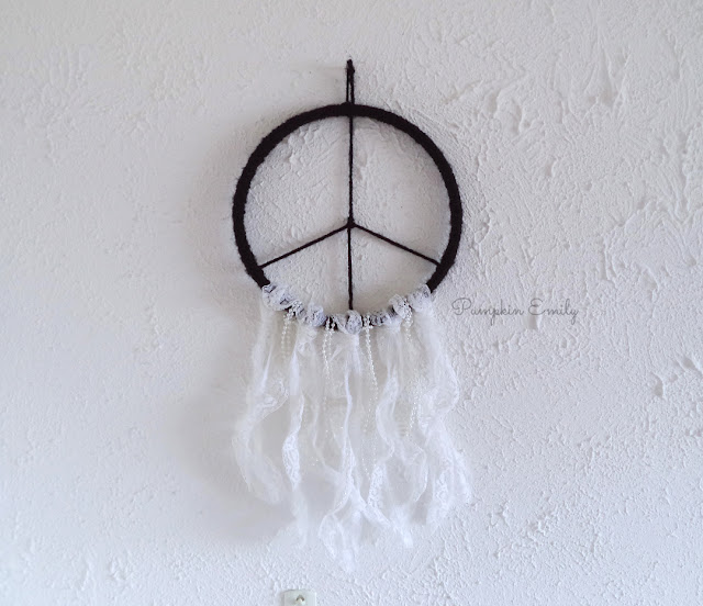 DIY Peace Sign Dreamcatcher | DIY Dreamcatcher Tutorial