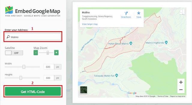cara memasukkan google maps kedalam website