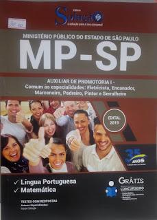 Apostila do concurso do Ministério Público do Estado de São Paulo na Banca Vanildo