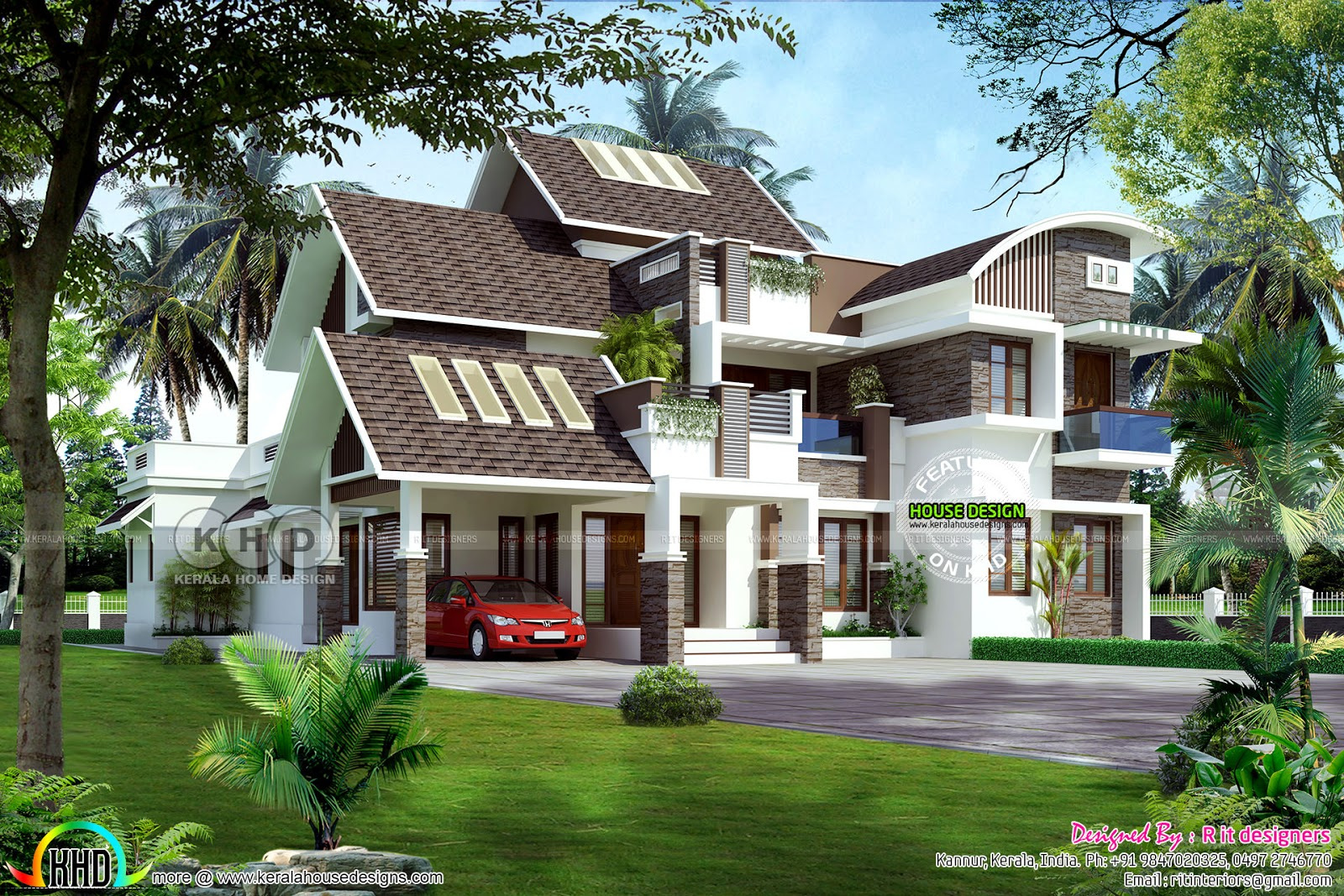 Contemporary Mix Villa Design Part - 33: Design Style : Contemporary Estimated Construction Cost : 80 Lakhs*  ($126,000*) (AED 461,000*) (*May Change Time To Time Place To Place)