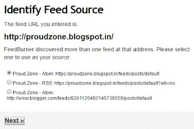 Setting Up your FeedBurner Feed Step2