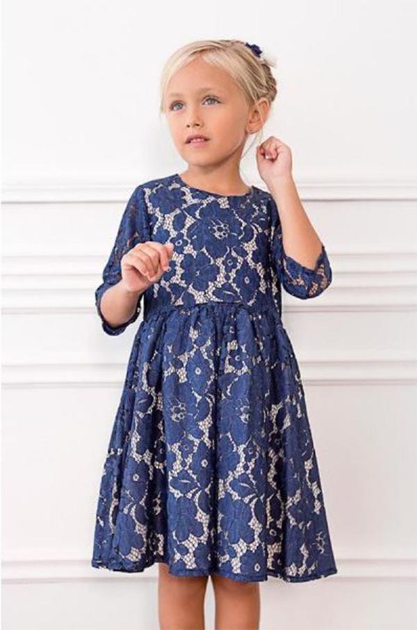 vestidos de moda para nenas invierno 2017