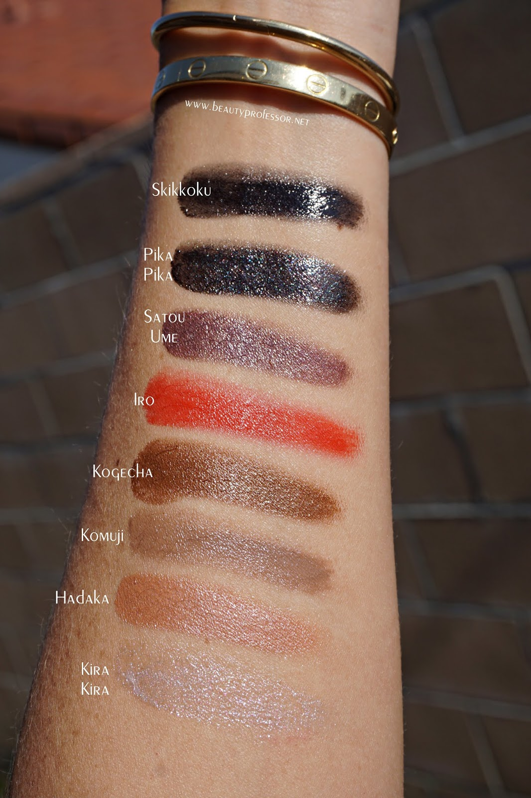 surratt beauty lid lacquer swatches