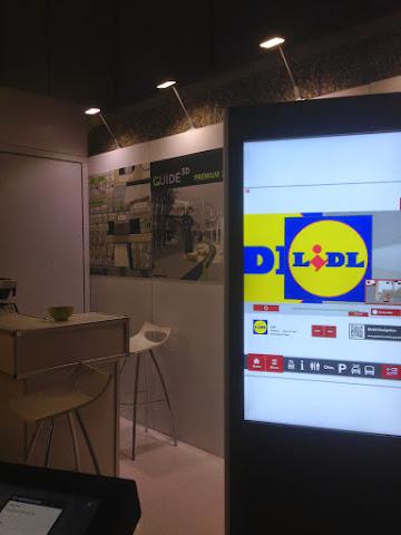 圖說: 3D-Berblin 攤位的 Guide3D 購物中心立體導覽,已經取得多家德國購物中心採用。圖片來源: 筆者手機