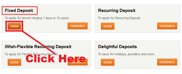 how to open a fixed deposit in icici bank