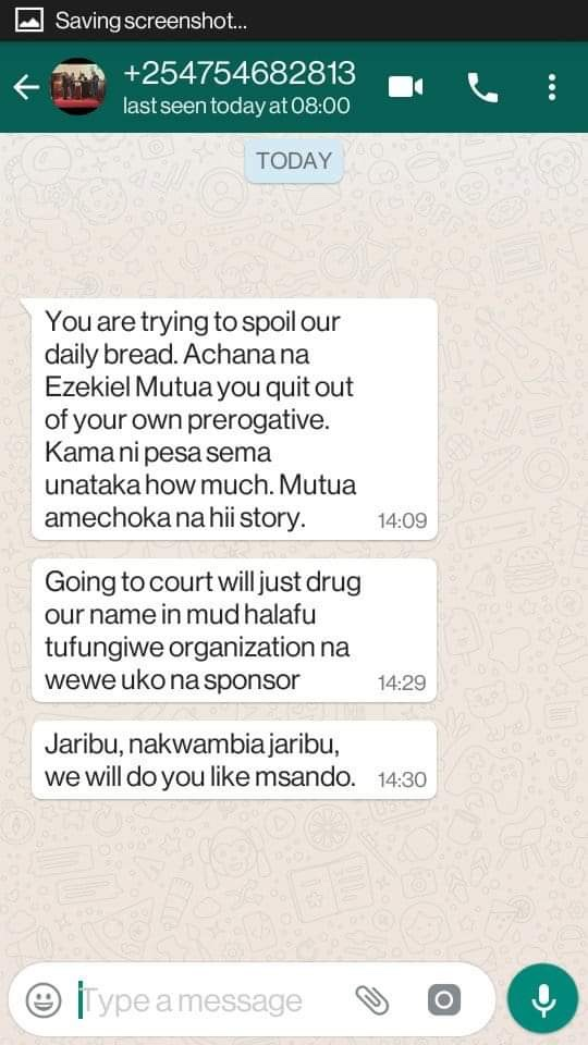 heye - DRAMA as LADY accuses EZEKIEL MUTUA of sexual harassment and reveals how he used to masturbate in the office.