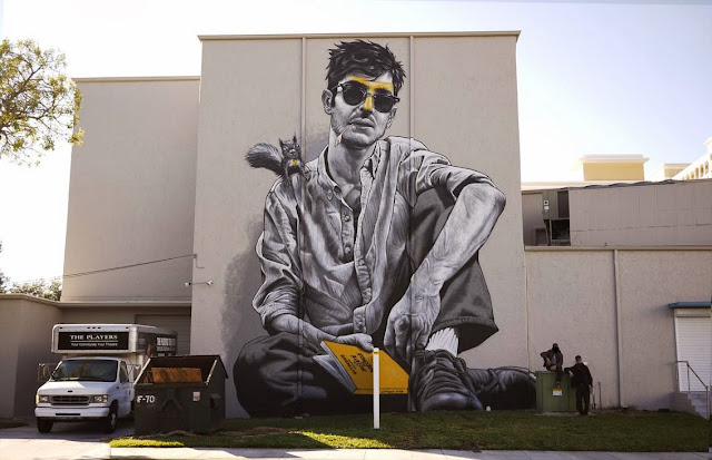 """""""Florida, Mon Amour"""" New Street Art Piece By MTO at the PLAYERS Theatre in Sarasota, USA. 1"""
