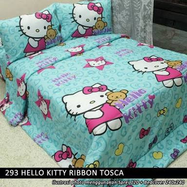 Sprei Hello Kitty Ribbon Tosca harga murah