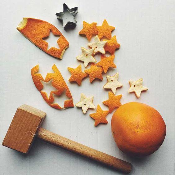 decorazioni con la buccia arancia