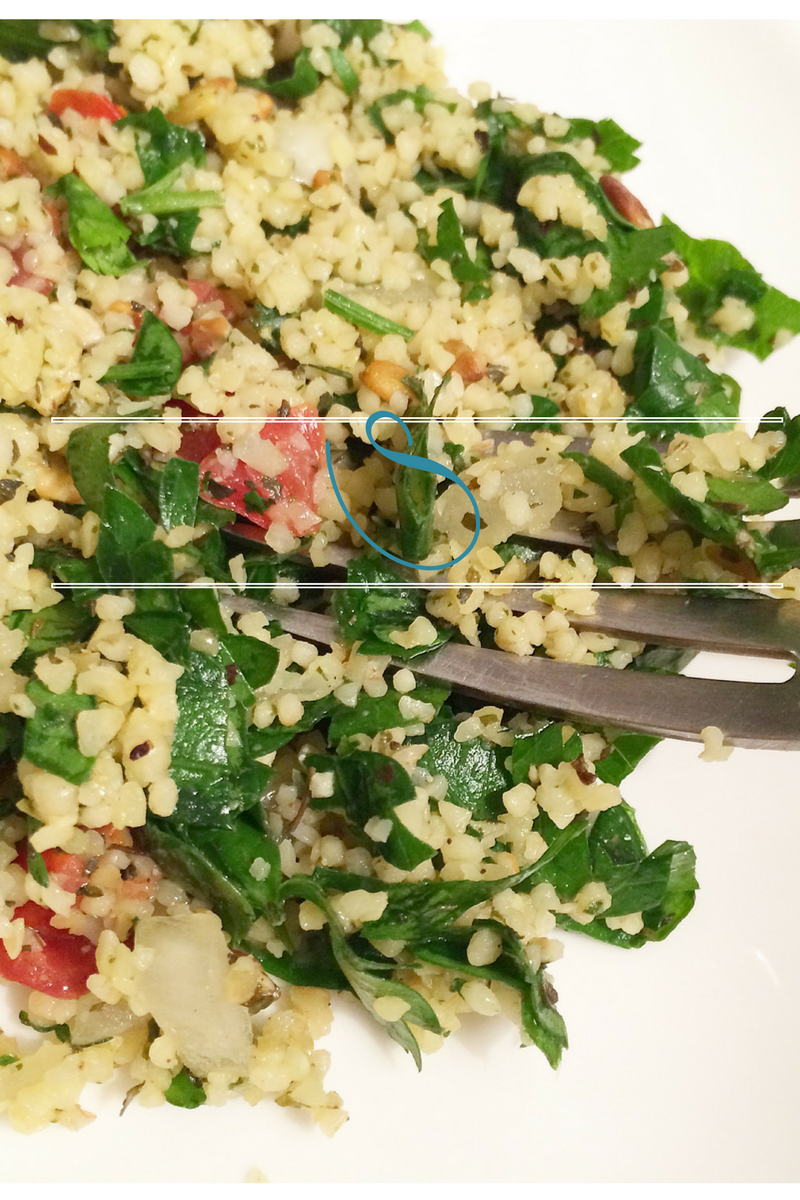 #Healthy parsley and mint bulgur tabbouleh | Taboulé au boulgour persil et menthe healthy