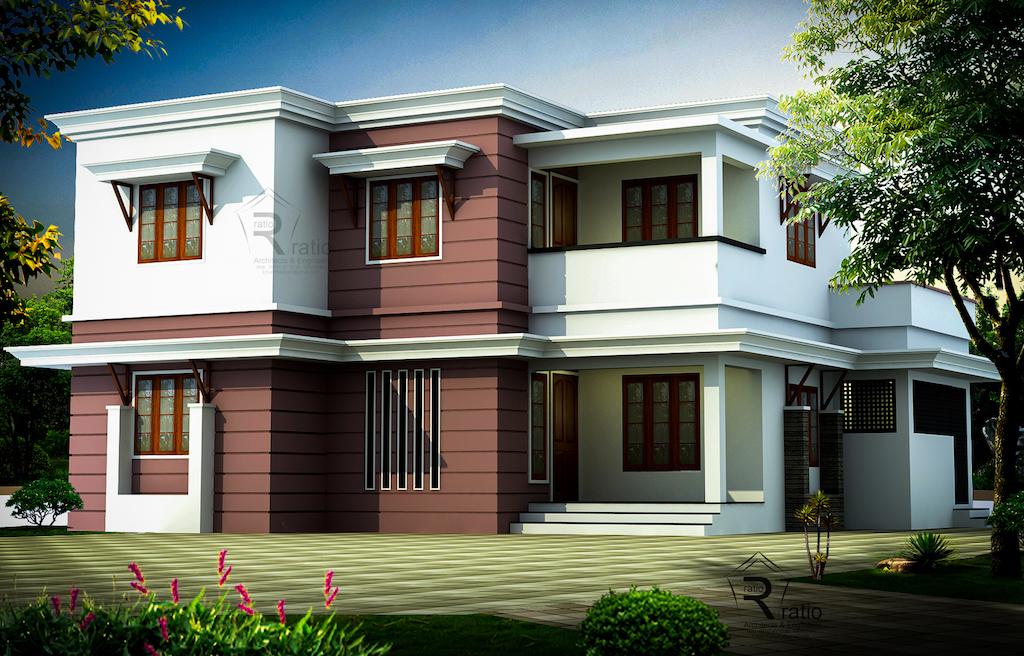 1748 sq ft 4 Bedroom Kerala Home design idea from Ratio,Architects & Engineers Malappuram