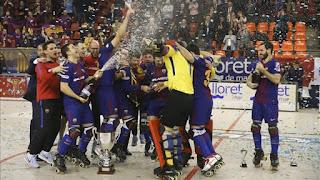 HOCKEY PATINES - El Barcelona conquista su tercera Copa del Rey consecutiva
