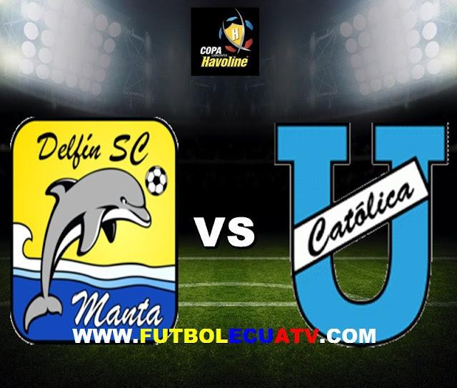Delfín se mide ante U. Católica en vivo a partir de las 14:30 horario designado por la FEF a efectuarse en el estadio Jocay de Manta prosiguiendo la fecha siete de la Serie A Ecuador, siendo el juez principal Omar Andres Ponce Manzo con transmisión del canal autorizado GolTV.