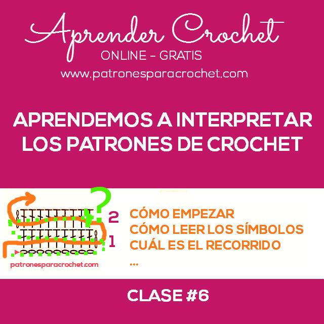 Aprender a interpretar los patrones de crochet