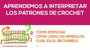 Cómo interpretar los patrones gráficos de crochet / Clase #6
