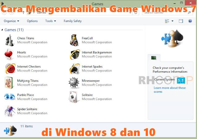 Cara Mengembalikan Game Windows 7 di Windows 8 dan 10