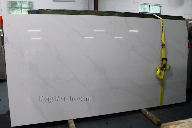White Quartz Slab Countertops