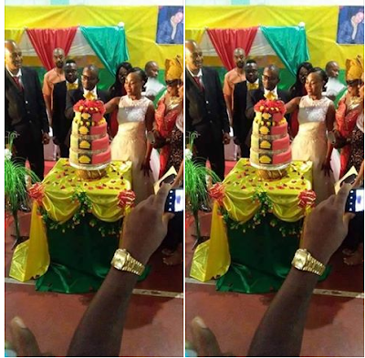 IGBO COUPLE PERFORM BIAFRA WEDDING INCLUDING CAKE, CANOPIES, GUEST –WHAT HAPPENED DURING THE WEDDING WILL SURPRISE YOU (PHOTOS)